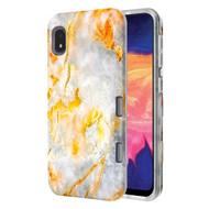 TUFF Subs Hybrid Armor Case for Samsung Galaxy A10e - Marble Orange Grey