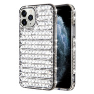 Sparks Mini Crystal Case for iPhone 11 Pro - Silver Triangle