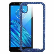 Tough Fusion-X 2-Piece Hybrid Armor Case for Motorola Moto E6 - Splash Blue