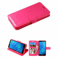 Element Series Book-Style Leather Folio Case for Motorola Moto E6 - Hot Pink