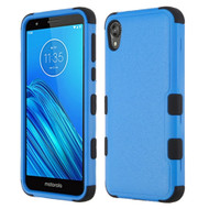 Military Grade Certified TUFF Hybrid Armor Case for Motorola Moto E6 - Blue