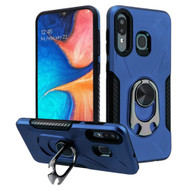 Multifunctional Hybrid Case with 360° Bottle Opener Rotating Ring Holder Stand for Samsung Galaxy A50 / A20 - Navy Blue