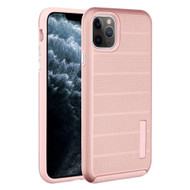 Haptic Dots Texture Anti-Slip Hybrid Armor Case for iPhone 11 Pro - Rose Gold