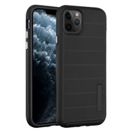 Haptic Dots Texture Anti-Slip Hybrid Armor Case for iPhone 11 Pro - Black