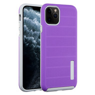 Haptic Dots Texture Anti-Slip Hybrid Armor Case for iPhone 11 Pro - Purple