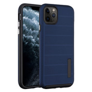 Haptic Dots Texture Anti-Slip Hybrid Armor Case for iPhone 11 Pro - Navy Blue