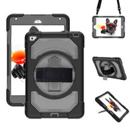 3-IN-1 Hybrid Armor Case with Rotatable Hand Strap and Stand for iPad Mini 4 - Black