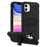Military Grade Certified Storm Tank Hybrid Armor Case with Stand for iPhone 11 - Black