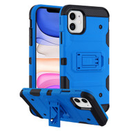 Military Grade Certified Storm Tank Hybrid Armor Case with Stand for iPhone 11 - Blue