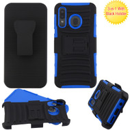 Advanced Armor Hybrid Kickstand Case with Holster Belt Clip for Samsung Galaxy A50 / A20 - Blue