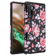 Hybrid Multi-Layer Armor Case for Samsung Galaxy Note 10 - Pinky White Rose