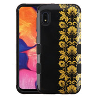 Military Grade Certified TUFF Hybrid Armor Case for Samsung Galaxy A10e - Floral Gold
