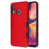 TUFF Subs Hybrid Armor Case for Samsung Galaxy A20 - Red
