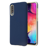Fuse Slim Armor Hybrid Case for Samsung Galaxy A50 - Navy Blue Gold