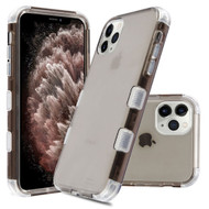 Military Grade Certified TUFF Lucid Transparent Hybrid Armor Case for iPhone 11 Pro Max - Smoke