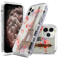 Military Grade Certified TUFF Lucid Transparent Hybrid Armor Case for iPhone 11 Pro Max - Paris in Full Bloom