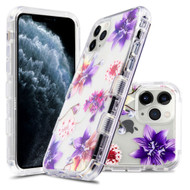Military Grade Certified TUFF Lucid Transparent Hybrid Armor Case for iPhone 11 Pro - Purple Stargazers