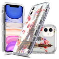 Military Grade Certified TUFF Lucid Transparent Hybrid Armor Case for iPhone 11 - Paris in Full Bloom