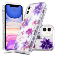 Military Grade Certified TUFF Lucid Transparent Hybrid Armor Case for iPhone 11 - Purple Stargazers