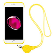 Slim Frosty Semi Transparent Fusion Case with Lanyard for iPhone 8 Plus / 7 Plus - Yellow