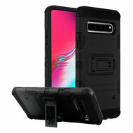 Military Grade Certified Storm Tank Hybrid Armor Case with Stand for Samsung Galaxy S10 5G - Black