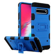 Military Grade Certified Storm Tank Hybrid Armor Case with Stand for Samsung Galaxy S10 5G - Blue