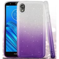 Full Glitter Hybrid Protective Case for Motorola Moto E6 - Gradient Purple