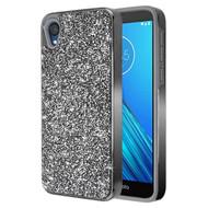 Desire Mosaic Crystal Hybrid Case for Motorola Moto E6 - Black