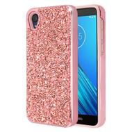 Desire Mosaic Crystal Hybrid Case for Motorola Moto E6 - Pink