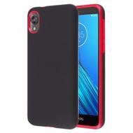 Fuse Slim Armor Hybrid Case for Motorola Moto E6 - Black Red