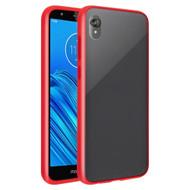 Frost Semi Transparent Hybrid Case for Motorola Moto E6 - Red