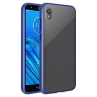 Frost Semi Transparent Hybrid Case for Motorola Moto E6 - Navy Blue