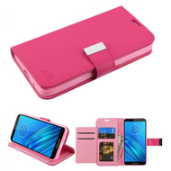 Xtra Series Essential Leather Wallet Stand Case for Motorola Moto E6 - Hot Pink