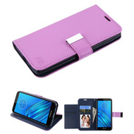Xtra Series Essential Leather Wallet Stand Case for Motorola Moto E6 - Purple