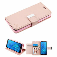 Xtra Series Essential Leather Wallet Stand Case for Motorola Moto E6 - Rose Gold