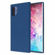 Liquid Silicone Protective Case for Samsung Galaxy Note 10 Plus - Navy Blue