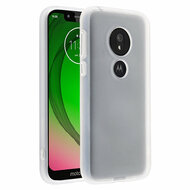 Frost Semi Transparent Hybrid Case for Motorola Moto G7 Play - White