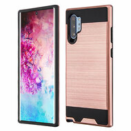 Brushed Coated Hybrid Armor Case for Samsung Galaxy Note 10 Plus - Rose Gold