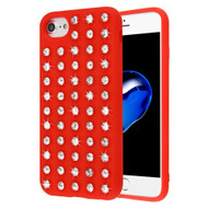 Dazzling Diamond TPU Case for iPhone 8 / 7 / 6S / 6 - Red