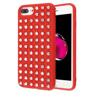 Dazzling Diamond TPU Case for iPhone 8 Plus / 7 Plus / 6S Plus / 6 Plus - Red