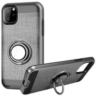 Multifunctional Hybrid Armor Case with Smart Loop Ring Holder for iPhone 11 Pro Max - Grey