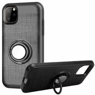 *Sale* Multifunctional Hybrid Armor Case with Smart Loop Ring Holder for iPhone 11 Pro - Black