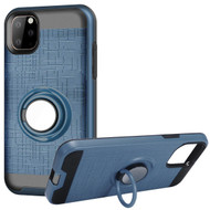 Multifunctional Hybrid Armor Case with Smart Loop Ring Holder for iPhone 11 Pro - Ink Blue