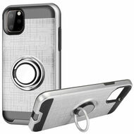 *Sale* Multifunctional Hybrid Armor Case with Smart Loop Ring Holder for iPhone 11 Pro - Silver
