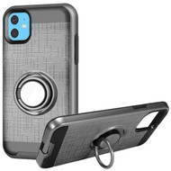 Multifunctional Hybrid Armor Case with Smart Loop Ring Holder for iPhone 11 - Grey