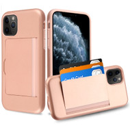 *Sale* Poket Credit Card Hybrid Armor Case for iPhone 11 Pro - Rose Gold