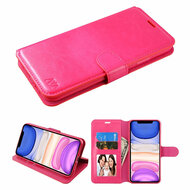 Element Series Book-Style Leather Folio Case for iPhone 11 - Hot Pink