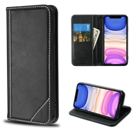Mybat Genuine Leather Wallet Case for iPhone 11 - Black