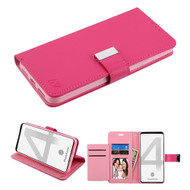 Xtra Series Essential Leather Wallet Stand Case for Google Pixel 4 XL - Hot Pink