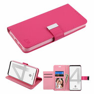 Xtra Series Essential Leather Wallet Stand Case for Google Pixel 4 - Hot Pink